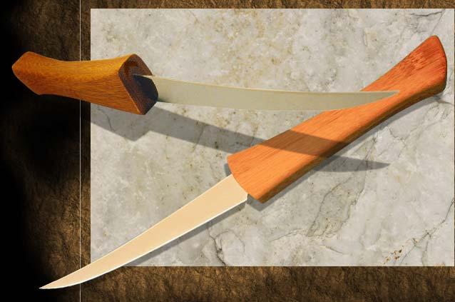 Küchenmesser M 28                                                     Fertigklinge mit Bambusgriff