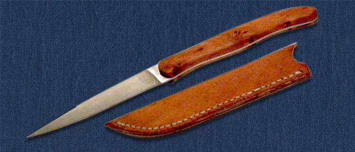 Brotzeitmesser mit Lederscheide