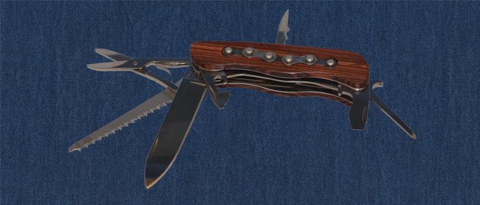 Taschenmesser aus Königsholz